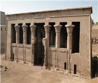 انهيار السور الغربي لمعبد آثار إسنا بالأقصر