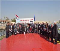 مميش يستقبل وفد الشركة المصرية للأقمار الصناعية «نايل سات»