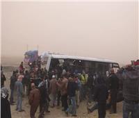 إصابة 10 عمال في انقلاب أتوبيس بطريق السويس