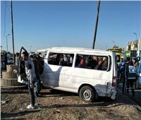 إصابة 14 عاملًا في انقلاب ميكروباص بطريق الإسماعيلية الصحراوي