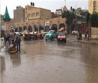 هطول أمطار غزيرة على مناطق شمال سيناء