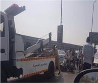 رفع حطام حادثي تصادم لسيارات بمحور صلاح سالم وكوبري أكتوبر