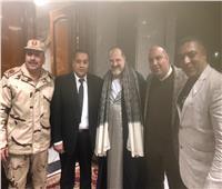 تكريم صاحبة السعادة والنجم خالد الصاوي بحفل الزفاف الجماعي بأسيوط