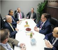 وزير «الإنتاج الحربي»يجتمع برئيس شركة «أوشكوش الأمريكية»