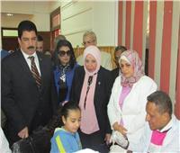 رئيسة «التأمين الصحي» تتابع مبادرة الكشف عن الأنيميا والسمنة