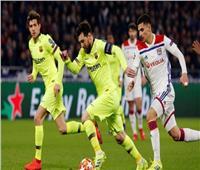 برشلونة وليون يتعادلان سلبيًا في الشوط الأول