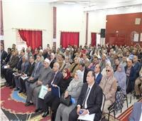 محافظ المنوفية يعقد لقاءاً مع أهالي منوف لبحث شكواهم