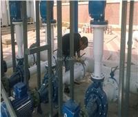 صيانة وتركيب مرشحات بمحطة أبوعارف بالسويس