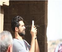 صور| أحمد مجدي وجيهان خليل في جولة سياحية بأسوان