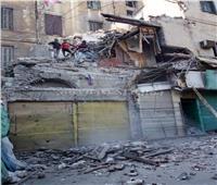 سقوط أجزاء من عقار قديم في المنشية بالإسكندرية دون إصابات