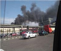 حريق محطة مصر| تكدسات مرورية في شارع رمسيس