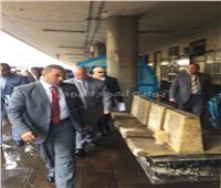 حريق محطة مصر| وصول محافظ القاهرة لموقع الحادث