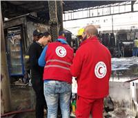 حريق محطة مصر| الهلال الأحمر يقدم الدعم النفسي للمصابين وأسر الضحايا