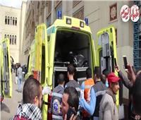 فيديو | سيارات الإسعاف تنقل جثامين ضحايا حريق محطة مصر