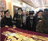 البابا تواضروس يفتتح معرض مقتنيات البابا شنودة ببورسعيد