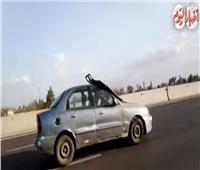 لقطة اليوم| فيديو مرعب لسائق يقود سيارته بـ«دون رؤية»