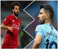 منافسة حامية بين أجويرو ومحمد صلاح على لقب هداف الدوري الإنجليزي