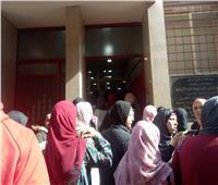 حادث محطة مصر  صور  توافد المواطنين على مستشفى الهلال للتبرع بالدم