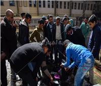 فيديو| لقطات من البحث عن متعلقات ضحايا حادث محطة مصر