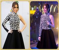بفستان أسود مزخرف بالنجوم.. إطلالة جذابة لـ«يارا» في دبي