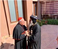 رئيس مجمع الكنائس الشرقية ليوناردو ساندري يزور البابا تواضروس