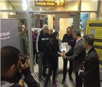 صور| مطار برج العرب يحتفي ببطلة العالم في الإسكواش نور الشربيني
