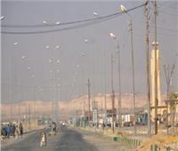 سقوط أمطار غزيرة في وسط سيناء