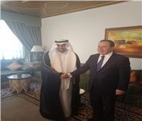 رئيس البرلمان العربي يجتمع مع وزير الخارجية التونسي بالجامعة العربية