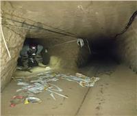 صور| قوات مكافحة الإرهاب تدمر 9 فتحات نفق على الشريط الحدودي بشمال سيناء