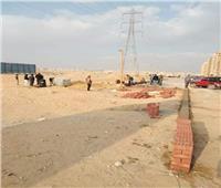 إيقاف أعمال بناء ساحة انتظار مخالفة بالبساتين