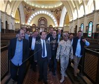 بالصور  وزير المالية يتفقد مسجد الفتاح العليم وكاتدرائية ميلاد المسيح