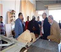وفد منظمة المدن والحكومات الأفريقية يزور مدينة دمياط للأثاث