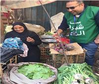 شبرا الخير توزع هدايا مفاجئة على الأمهات المعيلات بالأسواق الشعبية
