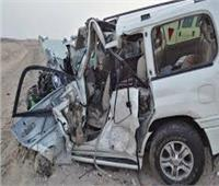 مصرع وإصابة 7 أشخاص في تصادم سيارتين بالمنيا