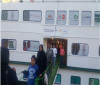 صور.. قافلة طبية على متن مستشفى عائم لعلاج الأطفال بالأقصر