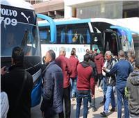 حافلات جماهير الزمالك تتجه إلى ملعب برج العرب