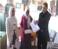توزيع 250 جهاز تابلت على طلاب الشيخ زويد