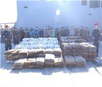 القوات البحرية تنجح في إحباط محاولة تهريب 8 طن من جوهر الحشيش المخدر