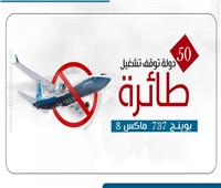 انفوجراف| 50 دولة تمنع طائرات بوينج «ماكس»