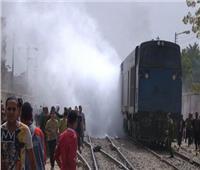 حريق محدود في جرار قطار منوف دون خساير بالأرواح