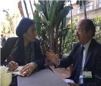 ياسمين فؤاد تلتقي المدير العام للبيئة في الاتحاد الأوروبي بنيروبي