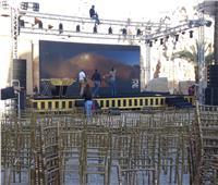 صور  نرصد الاستعدادت النهائية لحفل افتتاح مهرجان الأقصر السينمائي