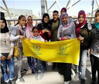 الأهالي يستقبلون بطلة الإسماعيلية نعمة سعيد في مطار القاهرة