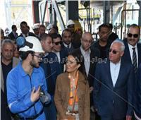 بالصور| وزيرة الاستثمار تتفقد مصنع «سيمنار» الهندي للبتروكيماويات ببورسعيد