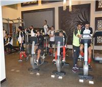 صور| اختبار وزن للاعبي منتخب مصر في معسكر برج العرب