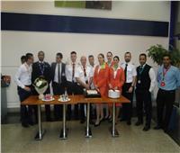 صور|  مطار «مرسي علم» يحتفل بخط طيران جديد من أوكرانيا