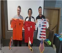 منتخب مصر يرتدي القميص الأحمر في ودية أمريكا