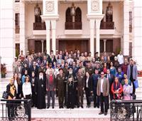 تواضروس يستقبل أعضاء هيئة التدريس بأكاديمية ناصر العسكرية