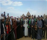 صور| وفود مسابقة الأوقاف للقرآن الكريم في جولة بالأهرامات