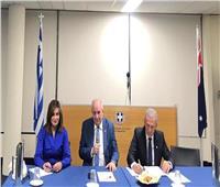مكرم تجتمع برؤساء الغرف التجارية الأسترالية واليونانية والقبرصية والعربية